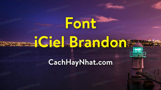Download Font iCiel Brandon text Việt Hóa