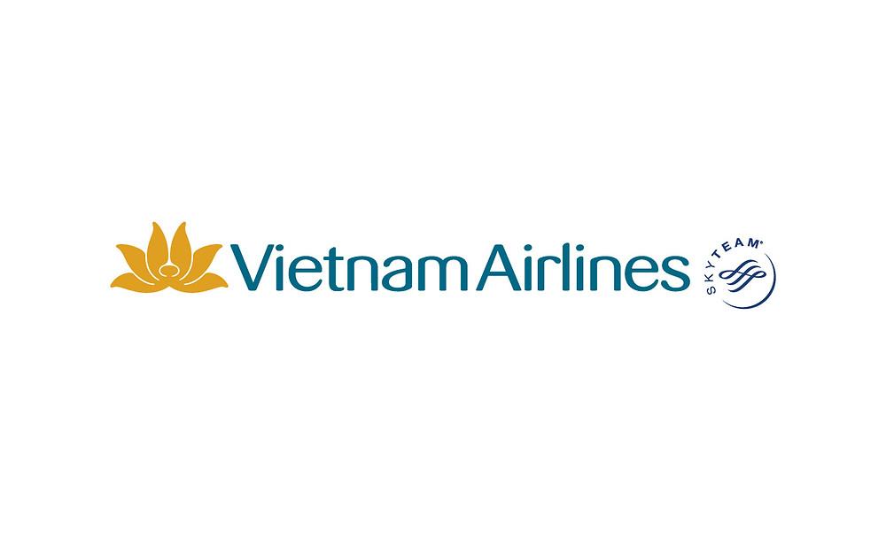 Logo Vietnam Airlines Sky Team - Bố cục ngang