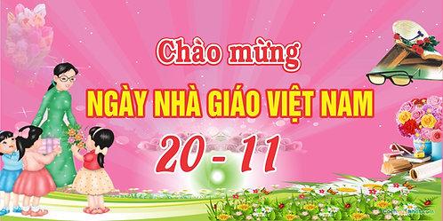 Phông Nền Background Ngày Nhà Giáo Việt Nam 20/11 Vector Corel CDR 07
