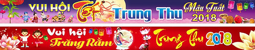 Banner Băng Rôn Trung Thu Vector Corel CDR 162