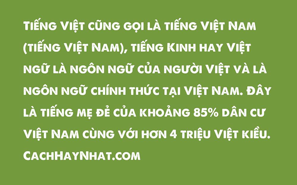 Font SVN-A Love Of Thunder Việt Hóa