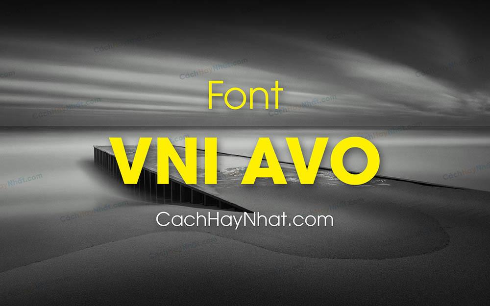 Ảnh bìa mô tả font chữ VNI