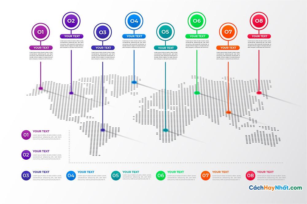 Bản Đồ Thế Giới professional world map infographic