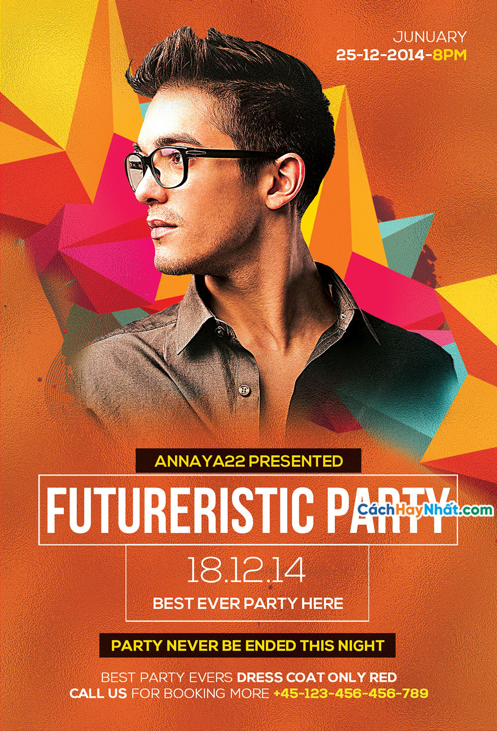 Download File Party Flyers PSD Free 01