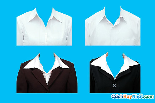 PSD Photoshop Ghép Ảnh Thẻ Áo Sơ Mi, áo vest Nữ 015