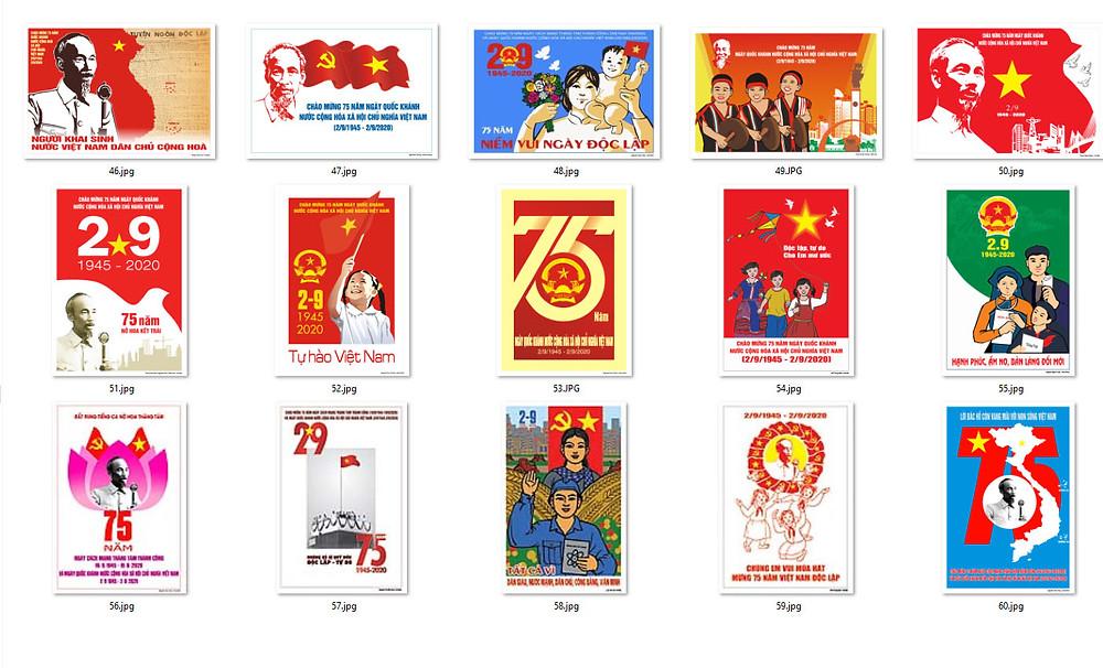 Bộ Tranh Cổ Động 75 Năm Cách Mạng Tháng Tám và Quốc Khánh 2-9 Chất Lượng Cao Part04