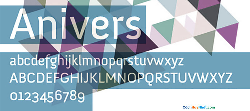 Download Free Font Anivers