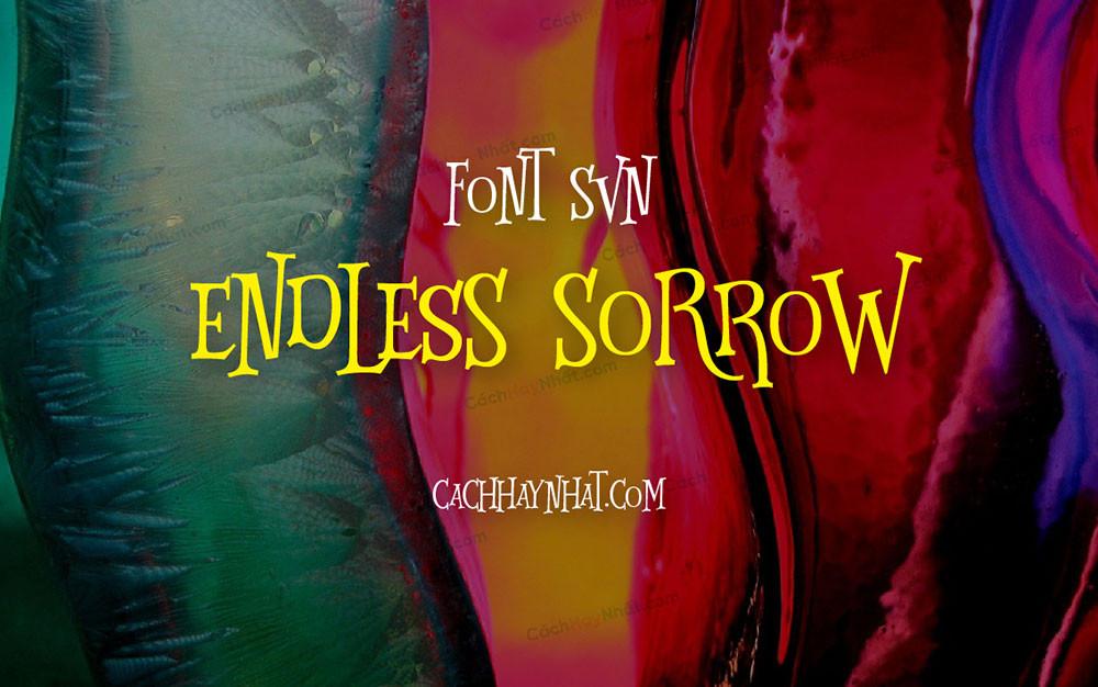 Ảnh bìa mô tả font SVN Endless Sorrow