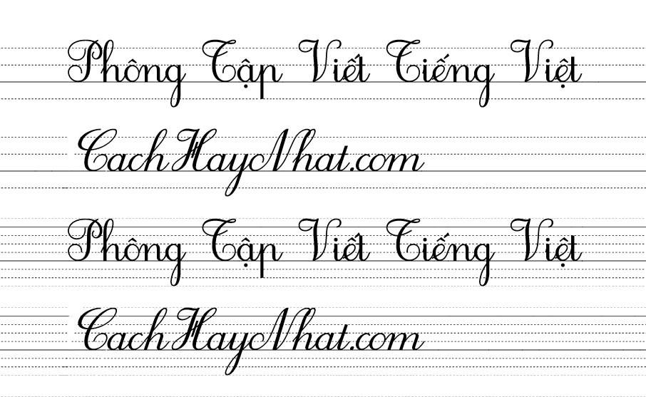 Font Chữ Tập Viết Tiểu Học - Font HP0001 2.0