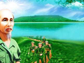 Bác Hồ Hành Quân File PSD Photoshop