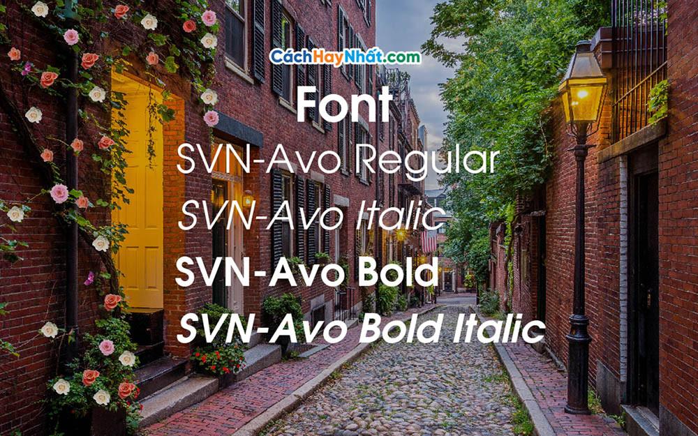 Font SVN-Avo