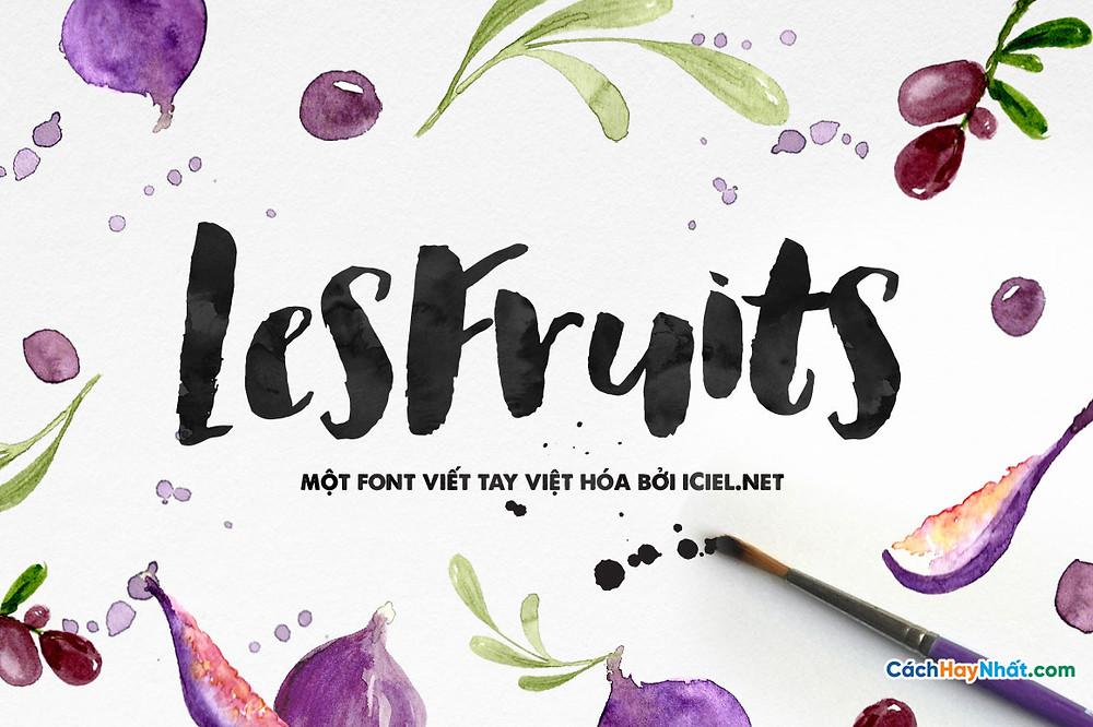 Font iCiel Les Fruits