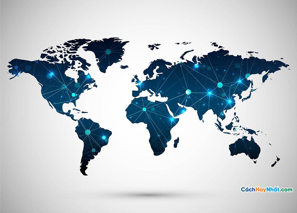 Bản Đồ Thế Giới modern world map background