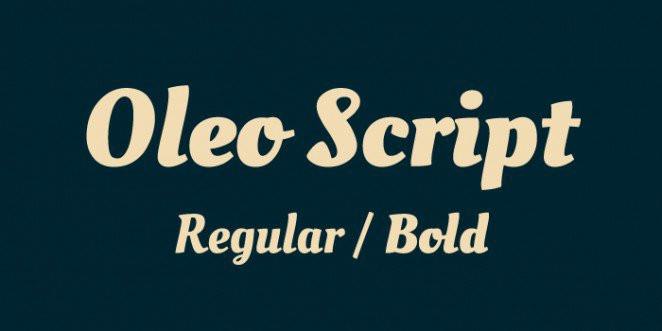 Font Oleo Script