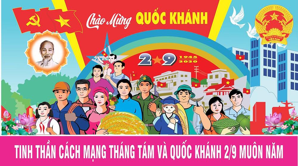 Tranh Cổ Động Chào Mừng 75 Năm Quốc Khánh 2-9 Vector Corel CDR