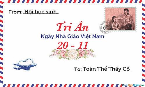Phông Nền Background Ngày Nhà Giáo Việt Nam 20/11 Vector Corel CDR 06