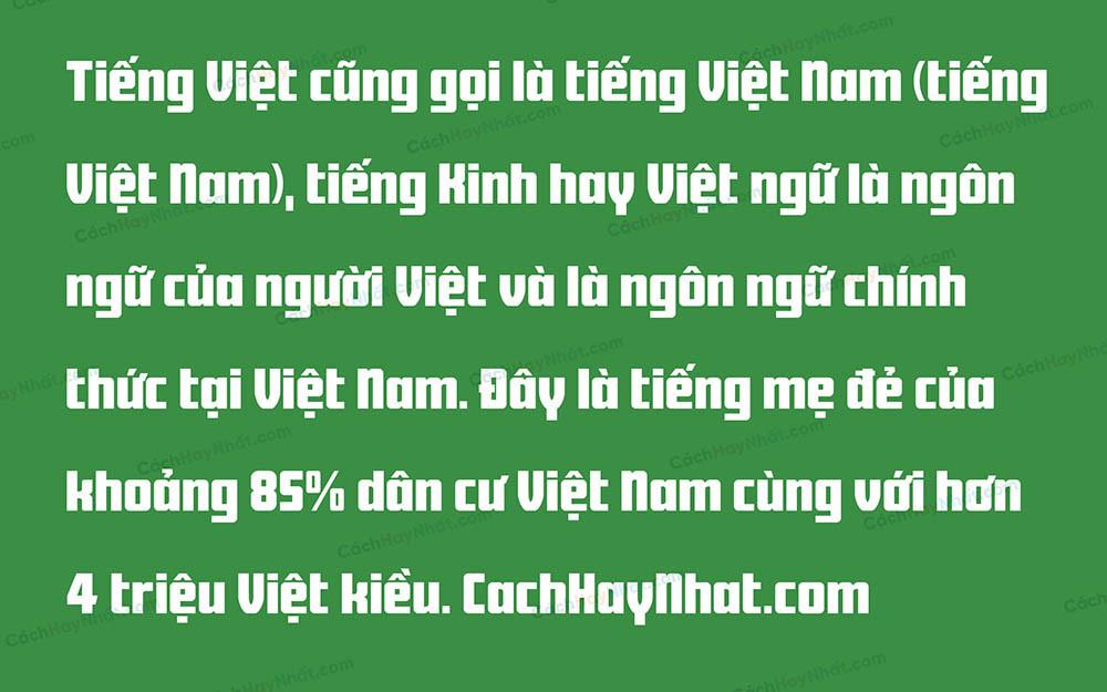 Font SVN-Black Stuff Bold Việt Hóa