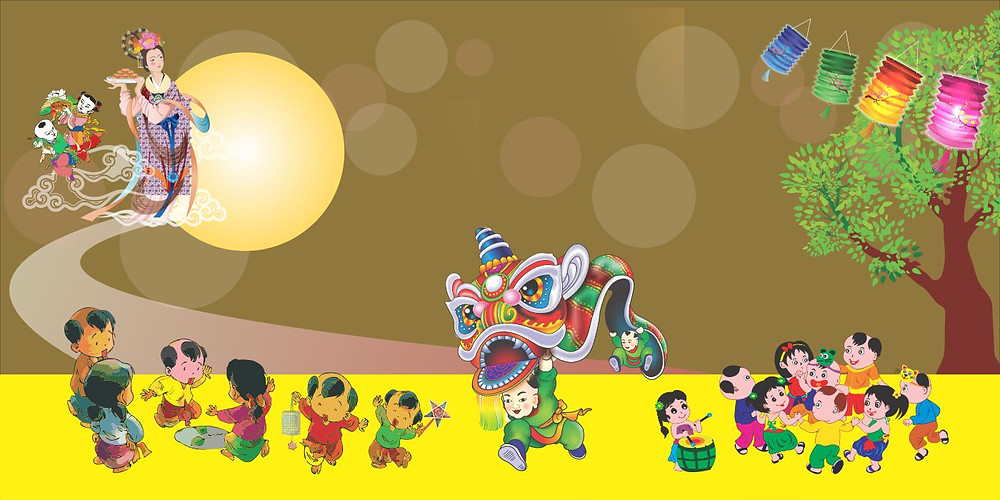 Background Phông Nền Trung Thu Vector Corel CDR Part21