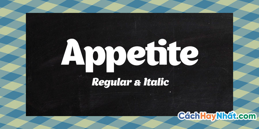 Font Chữ Appetite