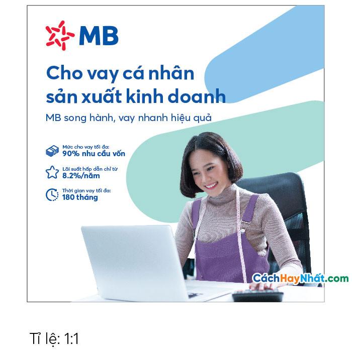 Pano Quảng Cáo Tấm lớn Cho vay Sản xuất Kinh doanh MBBank file Vector tỉ lệ 1-1