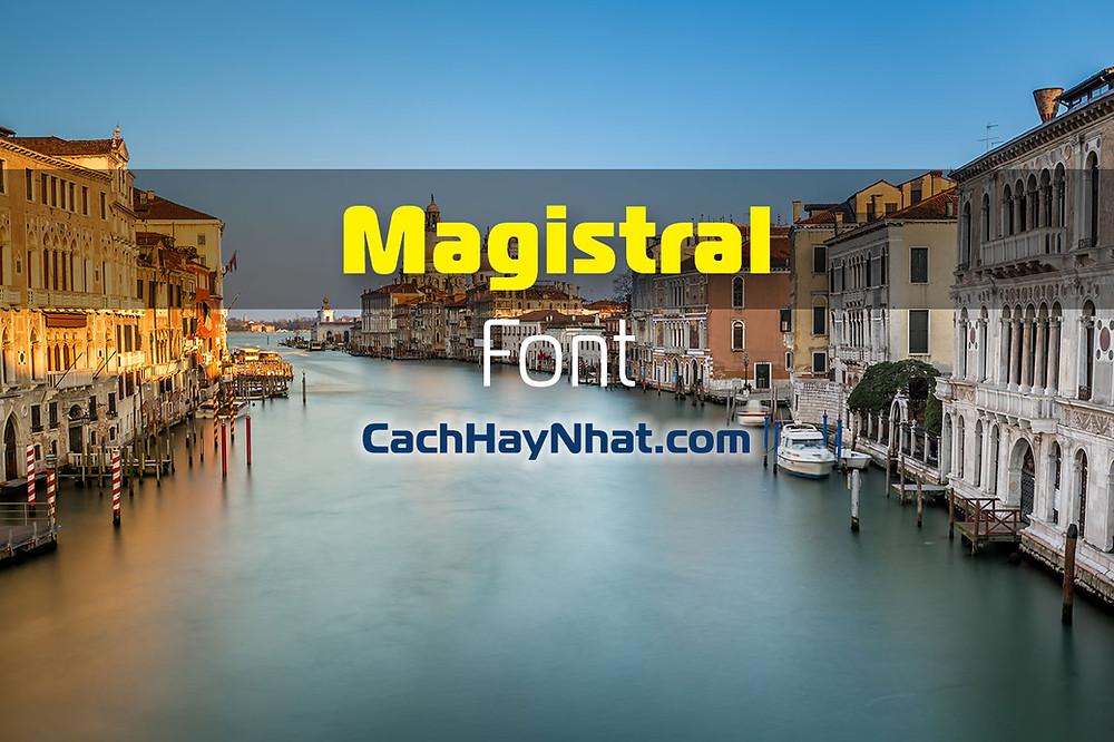 Font Magistral Full Family
