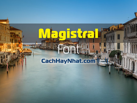 Download Font Magistral Full Family Free