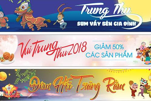 Banner Băng Rôn Trung Thu Vector Corel CDR 161