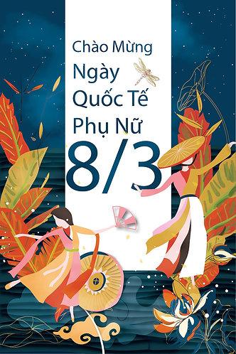 Phông Nền Background Ngày Phụ Nữ Việt Nam 20/10 Vector AI 19