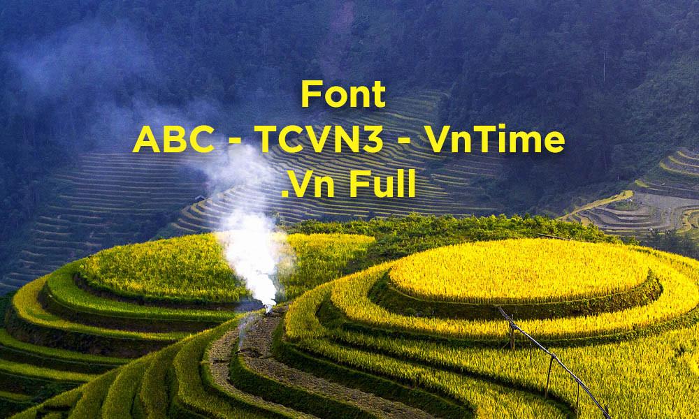 Font ABC - TCVN3 - VnTime - .Vn