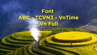Download Bộ Font ABC - TCVN3 - VnTime - .Vn Full
