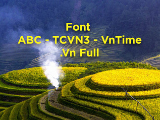 Download Bộ Font ABC - TCVN3 Full - Phông tiếng Việt