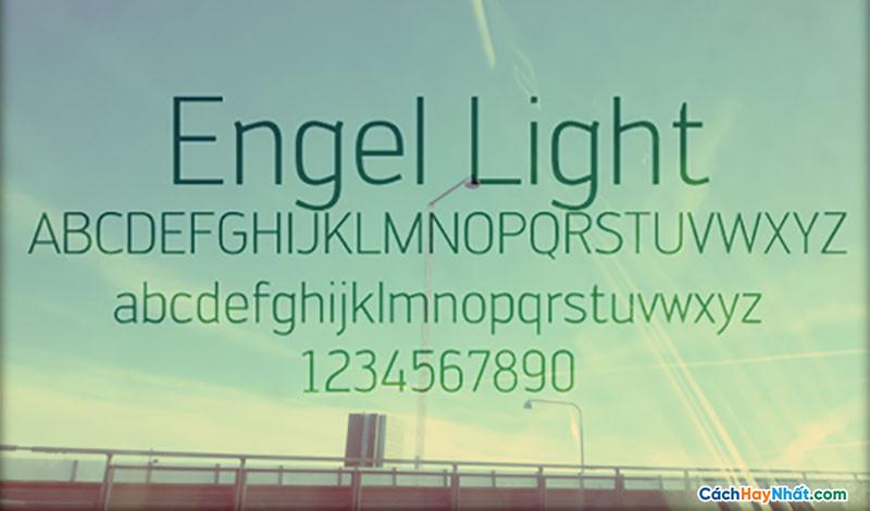 Download Free Font Engel Light