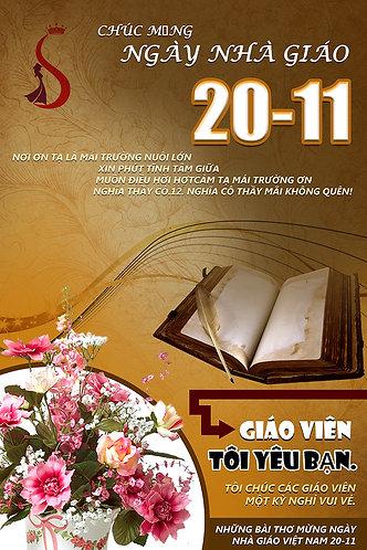 Poster Ngày Nhà Giáo Việt Nam 20/11 PSD Photoshop 24