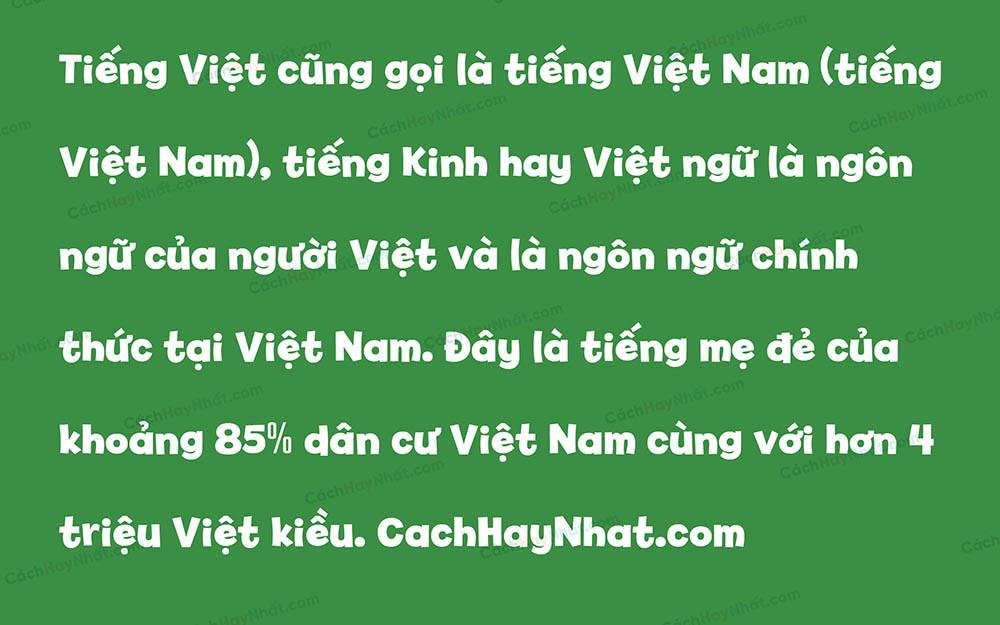 Font SVN Billy Bold Việt Hóa