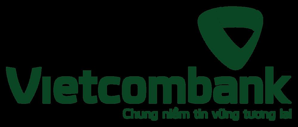 Logo Vietcombank một màu PNG