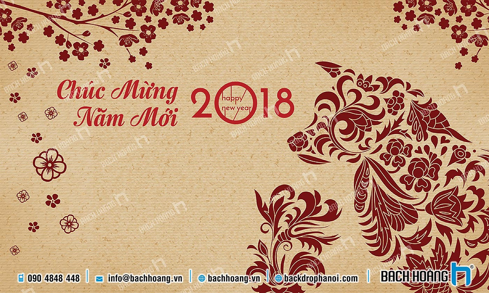 Backdrop Phông Chúc Mừng Năm Mới