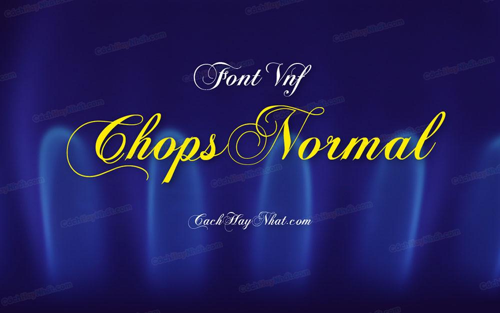 trang bìa mô tả font VNF Chops Normal Việt hóa