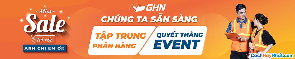 Banner Giao Hàng Nhanh GHN Vector