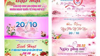 Tải Background Phông Nền Ngày Phụ Nữ Việt Nam 20/10 Vector Corel CDR Part03