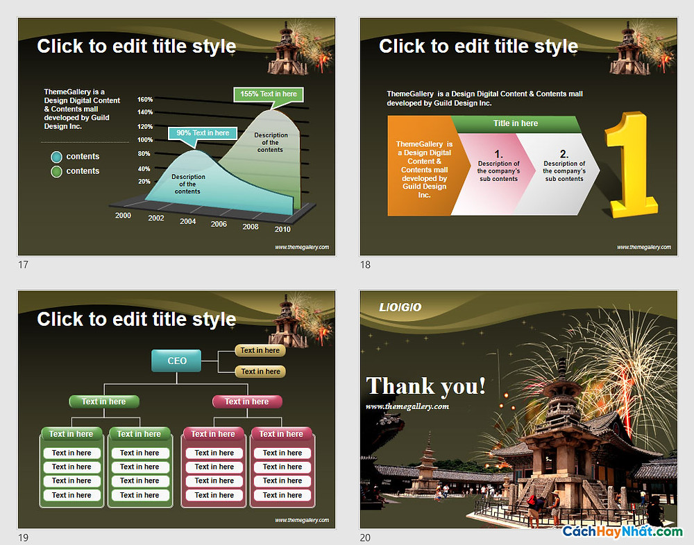PowerPoint Template 570TGp_koreaculture_dark
