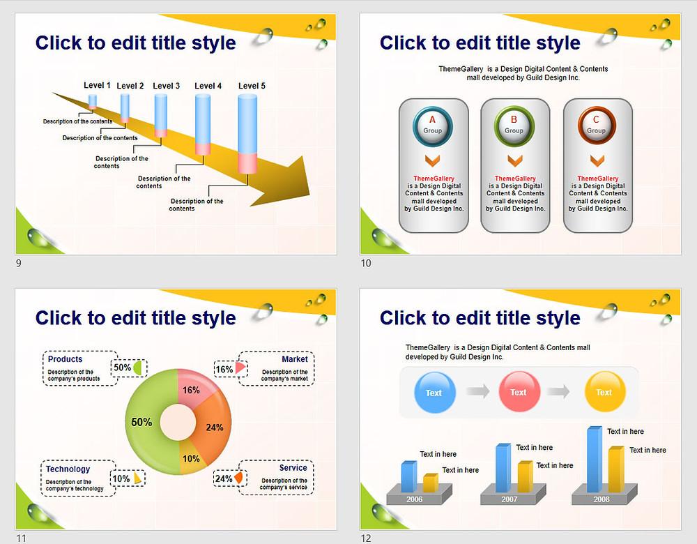 PowerPoint Template 579TGp_makeup_light