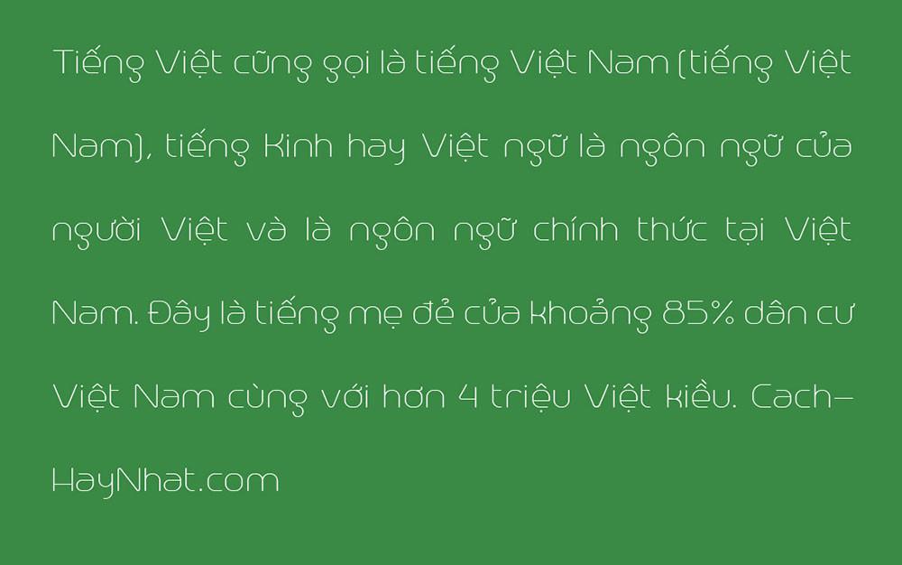 đoạn văn bản font SVN Trench Việt hóa