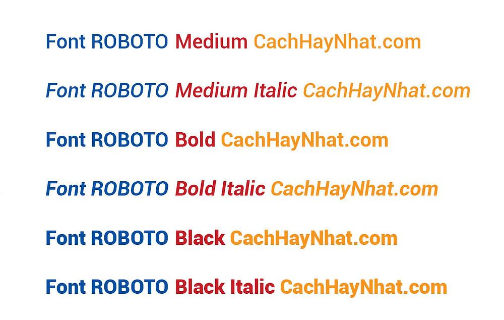 Font Roboto