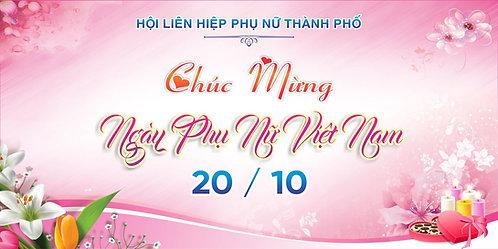 Phông Nền Background Ngày Phụ Nữ Việt Nam 20/10 Vector Corel CDR 10