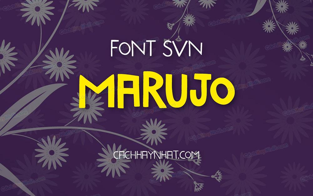 ảnh bìa font SVN Marujo Việt hóa