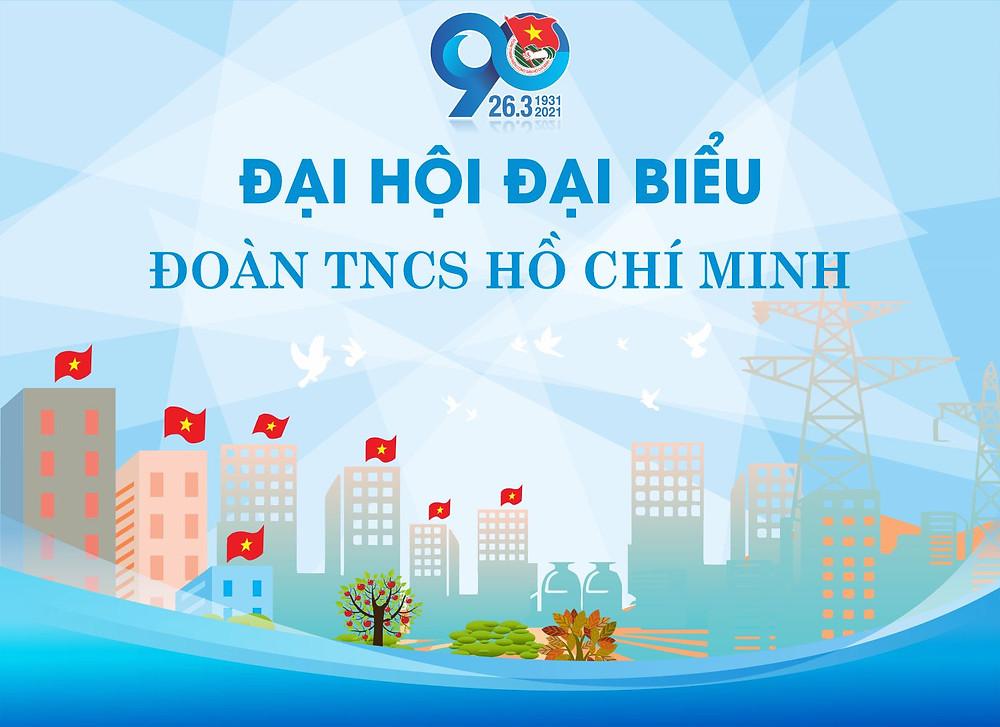 Tải Phông Đại Hội Đoàn TNCS Hồ Chính Minh 90 Năm Vector Corel CDR Part01