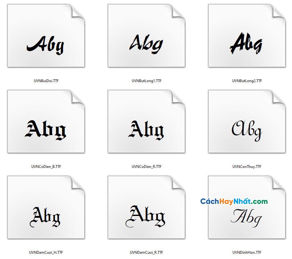 Download bộ 45 Fonts Chữ UVN Tuyệt Đẹp