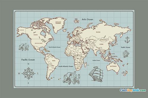 Bản Đồ Thế Giới World Map Vector