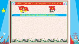 Phông Sân Khấu Đại Hội Đoàn TNCS Hồ Chính Minh 90 Năm Vector Corel CDR Part07