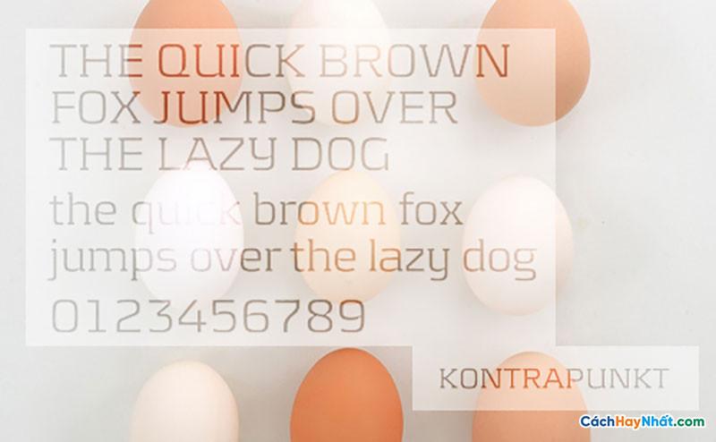 Download Free Font Kontrapunkt